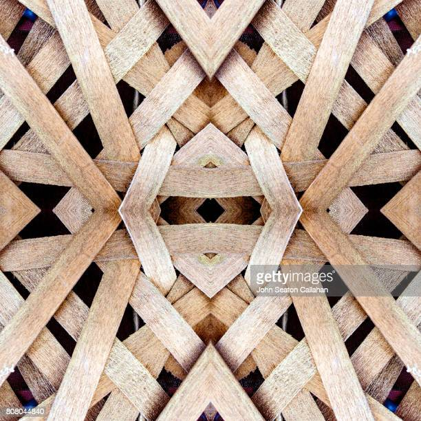woven rattan - woven stock photos and pictures