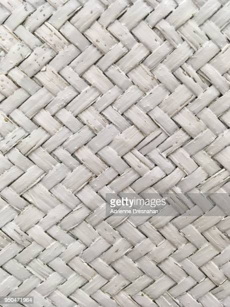 woven white wicker surface - woven stock photos and pictures
