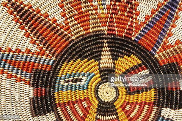 woven wicker mat southwestern sun phoenix - indigenous culture stock pictures, royalty-free photos & images