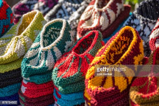 Wowen wool shoes for small children, Samarkand,Uzbekistan