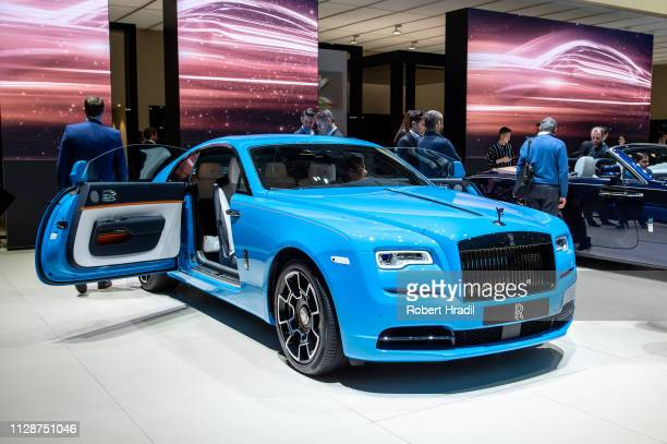 Wraith Rolls-Royce is displayed during the first press day at the 89th Geneva International Motor Show on March 5, 2019 in Geneva, Switzerland.