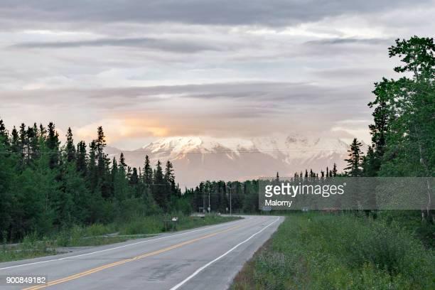 Wrangell Mountains at Wrangell-St.-Elias-National Park - Alaska, USA