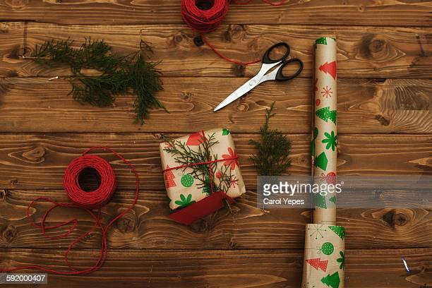 Wrap paper, christmas presents