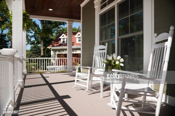 Wrap-around porch in summer.