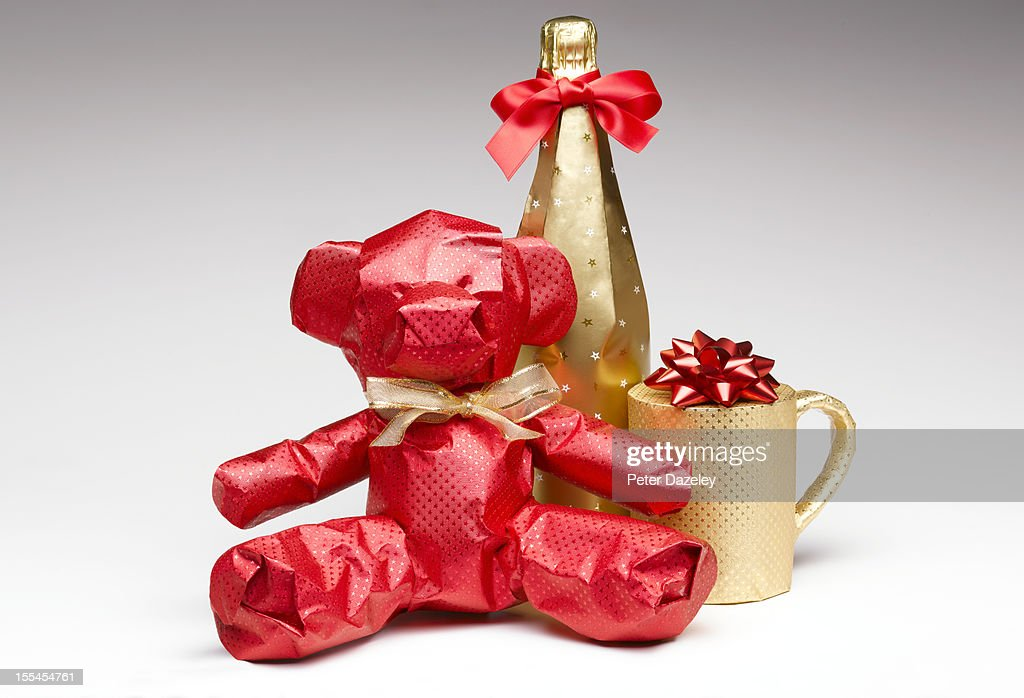 Wrapped Christmas Gifts Stock Photo | Getty Images
