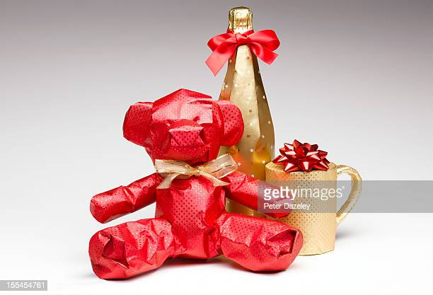 wrapped christmas gifts - wrapped stock pictures, royalty-free photos & images