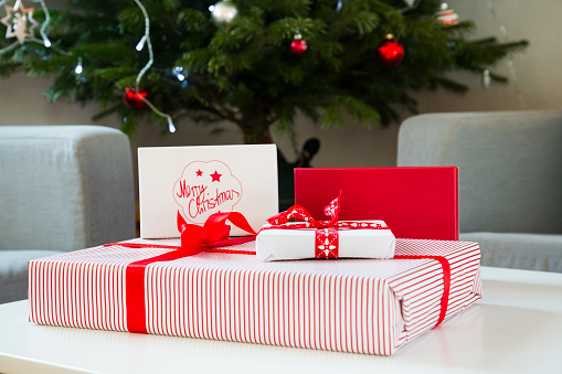 Wrapped Christmas presents - gettyimageskorea