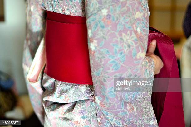 wrapped in colours - obi sash stock pictures, royalty-free photos & images