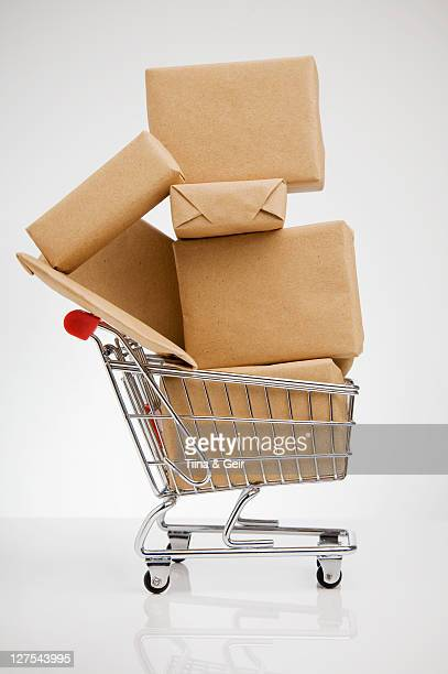 Wrapped packages in shopping cart