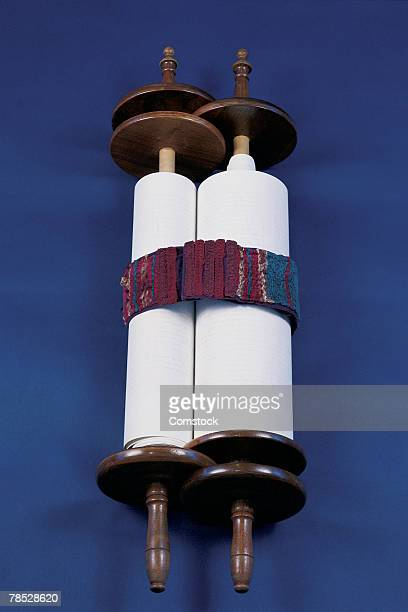 wrapped torah scroll - torah stock photos and pictures