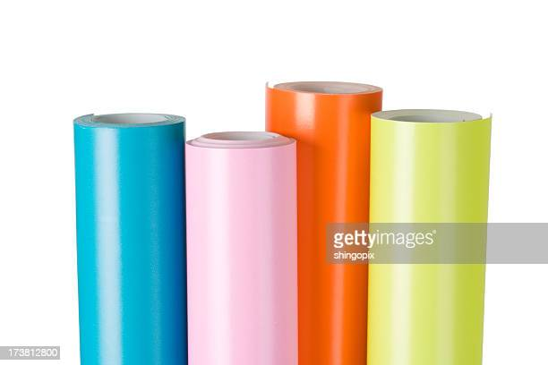 wrapping paper - rolled up stock pictures, royalty-free photos & images