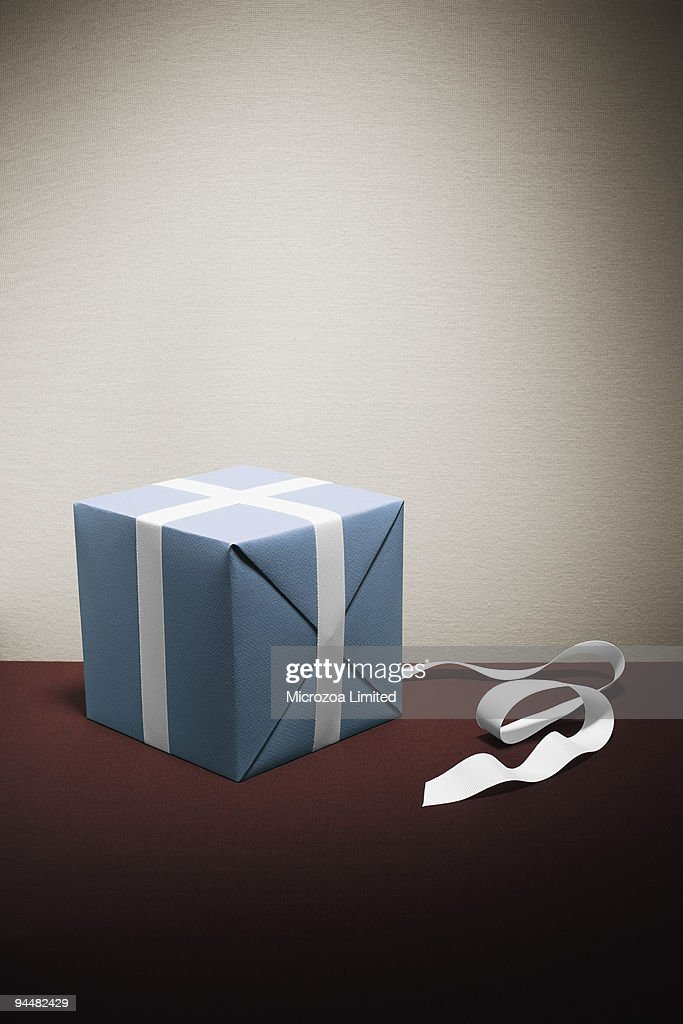 Wrapping present : Stock Photo