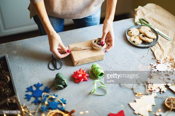 wrapping presents - wrapping stock pictures, royalty-free photos & images