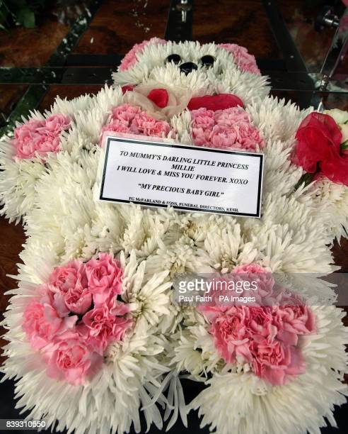 A wreath from Rachel Martin mother of 15monthold Millie Martin at her funeral in County Fermanagh