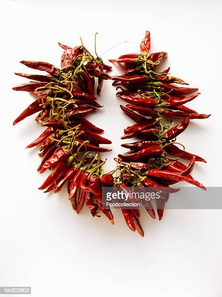 Wreath of dried Mexican chilis (Guajillo)