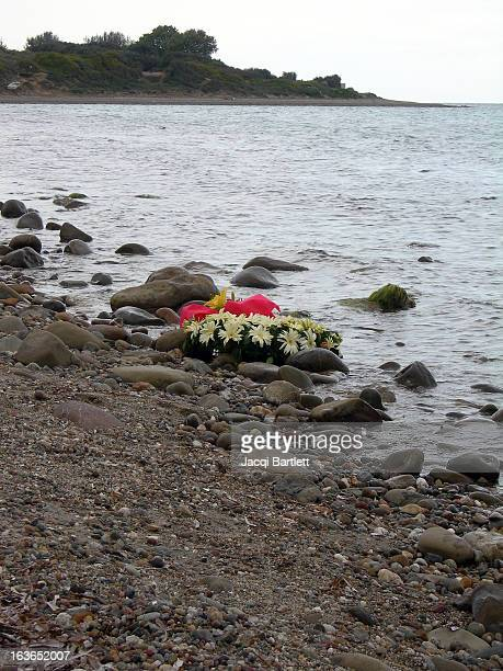 CONTENT] Wreath on the shore at Gallipoli the day after Anzac Day