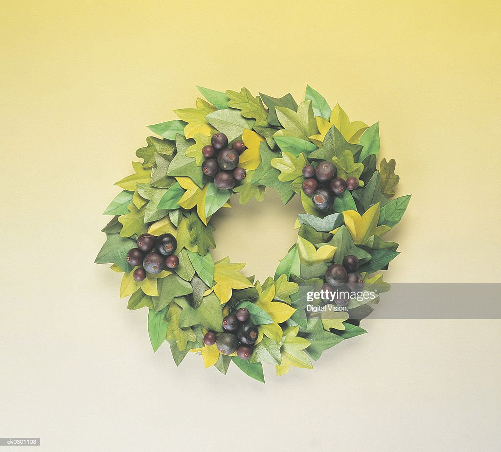 Wreath with berries : Stock Photo
