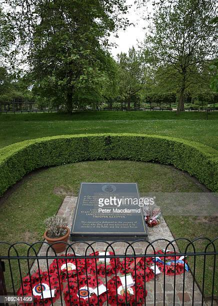 Wreaths and a memorial stone mark the location of the 1982 Hyde Park bombing on May 22 2013 in London England Anthony Downey has today been charged...