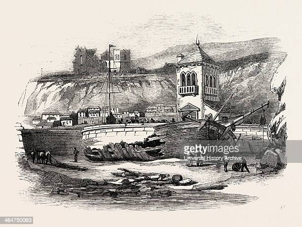 Wreck Of The Brigs 'mary' And 'hope' At Whitby Yorkshire UK