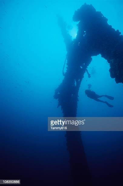 WWII Wreck prior to sinking after volcanic eruption in 1994
