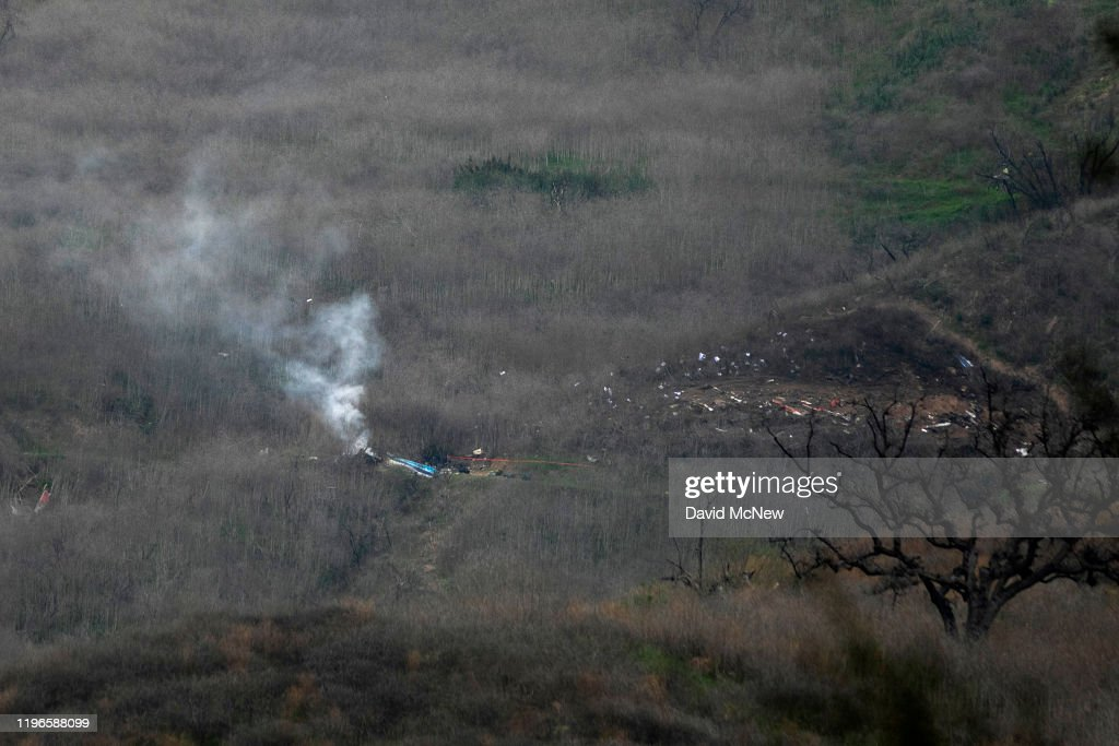 Kobe Bryant Reportedly Killed In Helicopter Crash In Calabasas Hills : News Photo