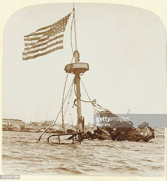 Wreckage of the USS Maine which was sunk February 15, 1898 leading to the Spanish-American War.