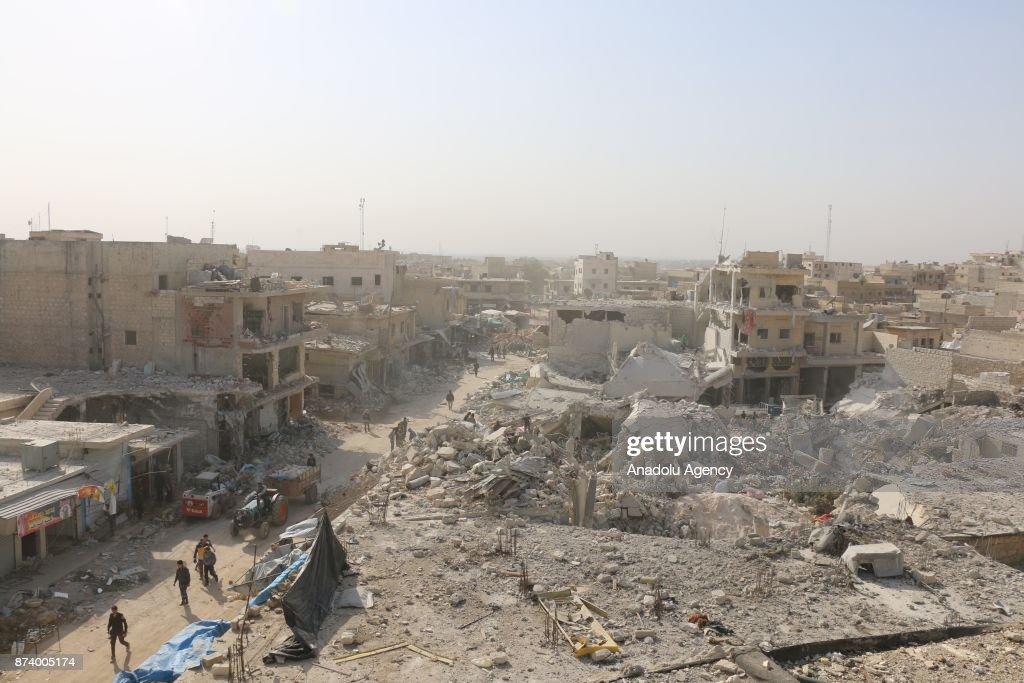 Yesterday's airstrikes kill 57 in Syrias Aleppo : News Photo