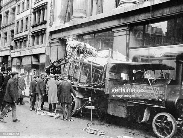 Wrecked Sopwith Atlantic aircraft from the Atlantic crossing attempt Oxford Street London 1919 In 1919 there was intense public interest in the...
