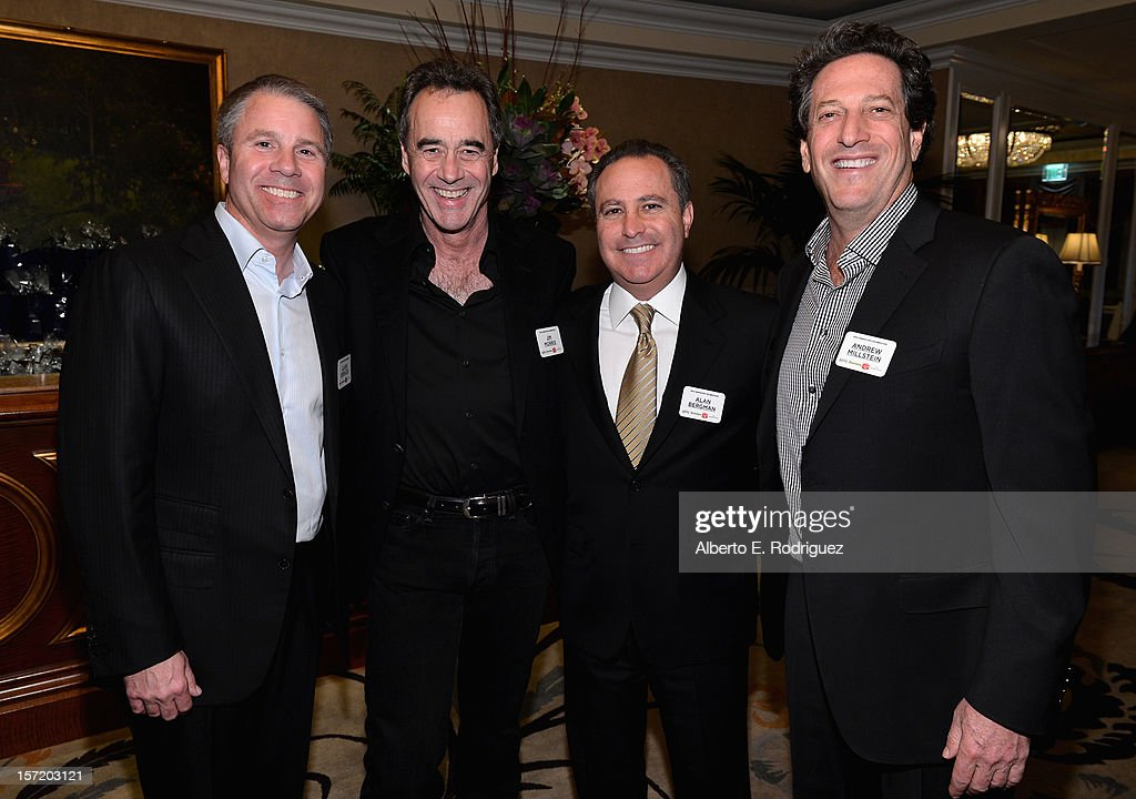 'Wreck-It Ralph' producer Clark Spencer, general manager and executive vice president of production for Pixar Animation Studios Jim Morris, president of Walt Disney Studios Alan Bergman and executive vice president and general manager of Walt Disney Animation Studios and Disney Toon Studios Andrew Millstein attend Walt Disney Studios 2012 animation celebration at The Beverly Hills Hotel on November 29, 2012 in Beverly Hills, California.