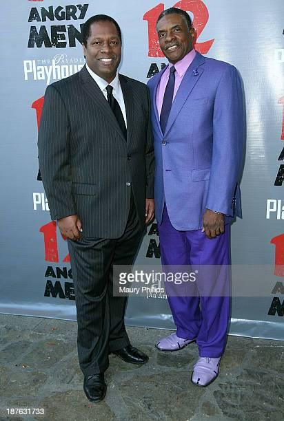 Wren Brown and Keith David attend '12 Angry Men' at the Pasadena Playhouse on November 10 2013 in Pasadena California