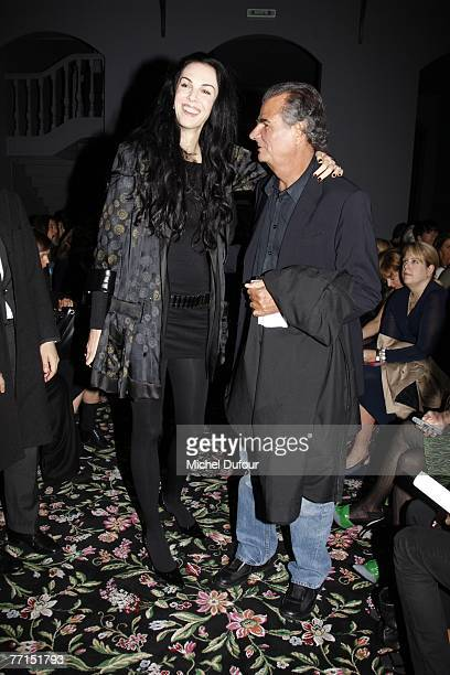 Wren Scott and Patrick Demarchelier attends the Balenciaga fashion show during the Spring/Summer 2008 ready-to-wear collection show on October 2,...