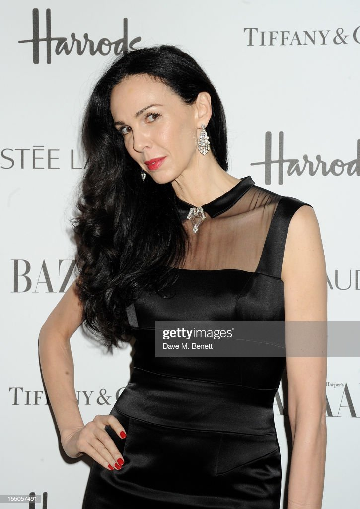 L'Wren Scott attends the Harper's Bazaar Women of the Year Awards 2012, in association with Estee Lauder, Harrods and Tiffany & Co., at Claridge's Hotel on October 31, 2012 in London, England.