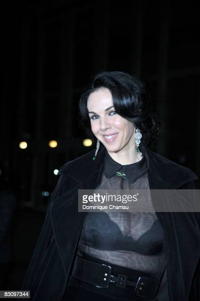 Wren Scott attends the Yves Saint Laurent fashion show during Paris fashion week at the Grand Palais on October 2, 2008 in Paris, France.