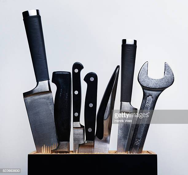 Wrench in a knife block