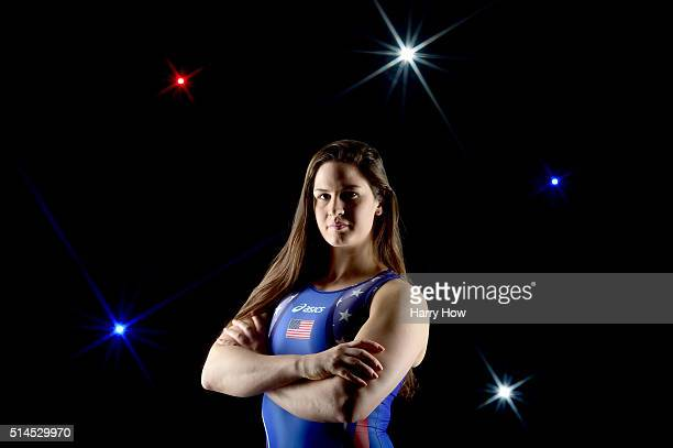 Wrestler Adeline Gray poses for a portrait at the 2016 Team USA Media Summit at The Beverly Hilton Hotel on March 9 2016 in Beverly Hills California