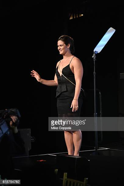 Wrestler Adeline Gray walks onstage at the 37th Annual Salute To Women In Sports Gala at Cipriani Wall Street on October 19 2016 in New York City