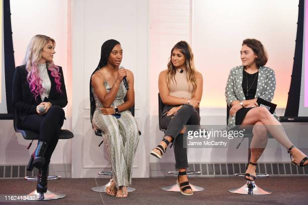 WWE wrestler Alexa Bliss professional baseball player Mo'ne Davis NASCAR driver Hailie Deegan and Digital Media Reporter for Adweek Sara Jerde...