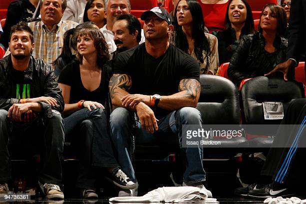 Wrestler Batista watches the Miami Heat against the Orlando Magic on December 17 2009 at American Airlines Arena in Miami Florida NOTE TO USER User...