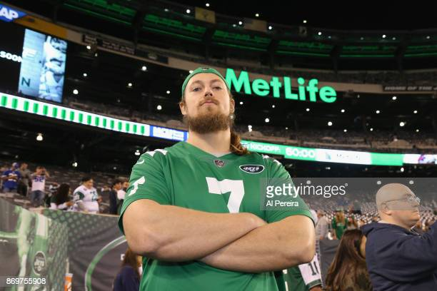 WWE wrestler Big Cass attends the Buffalo Bills at New York Jets game at MetLife Stadium on November 2 2017 in East Rutherford New Jersey