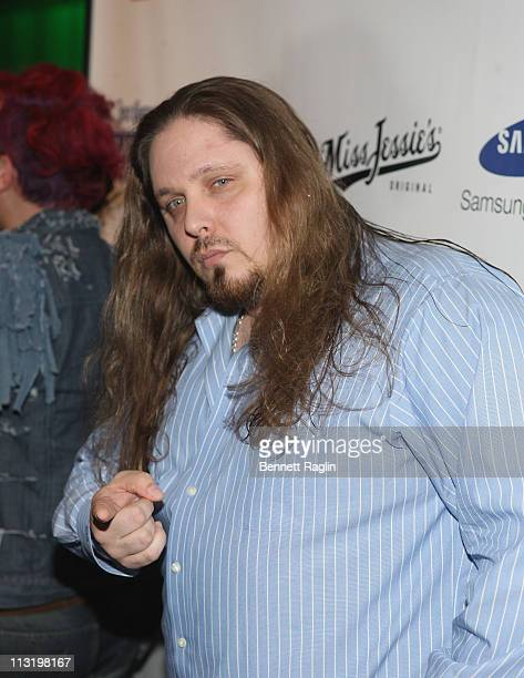Wrestler Brimstone attends the 4th Annual Fashion Reporter Fashion and Football Congratulations Gala at The Samsung Experience on April 26 2011 in...