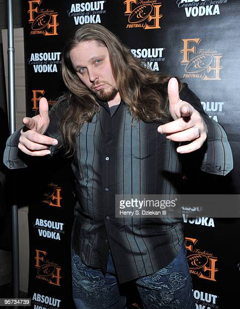 Wrestler Brimstone attends the Fashionandfootballcom launch at La Pomme on January 12 2010 in New York City