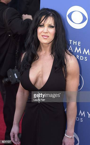 WWF wrestler Chyna arrives at the 43rd Annual Grammy Awards held at Staples Center February 21 2001 in Los Angeles CA