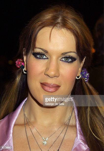 WWF wrestler Chyna attends the premiere of Project Greenlight November 27 2001 at the Chelsea West Theatre in New York City