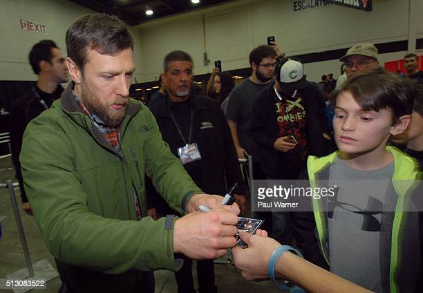 Wrestler Daniel Bryan signs a autograph on Sunday, February 28, 2016 at Autorama at Cobo Hall in Detroit, MI, United States.