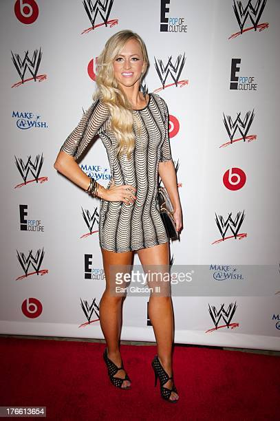 Wrestler Danielle Moinet aka Summer Rae attends the WWE SummerSlam VIP Party at Beverly Hills Hotel on August 15 2013 in Beverly Hills California