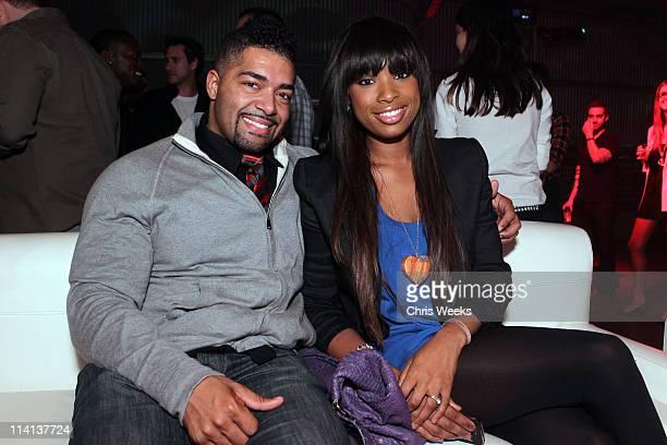 Wrestler David Otunga and singer Jennifer Hudson attend the Samsung Infuse 4G For ATT Launch Event Featuring Nicki Minaj held at Milk Studios on May...
