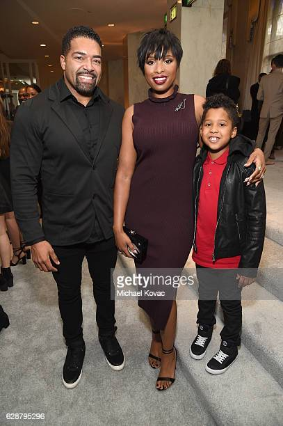 Wrestler David Otunga honoree Jennifer Hudson and David Otunga Jr attend 2016 March of Dimes Celebration of Babies at the Beverly Wilshire Four...