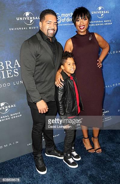 Wrestler David Otunga singer Jennifer Hudson and David Otunga Jr attend the 2016 March of Dimes Celebration of Babies at the Beverly Wilshire Four...