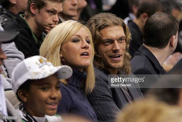 Wrestler 'Edge' attends the 2007 NHL AllStar Game at American Airlines Center on January 24 2007 in Dallas Texas
