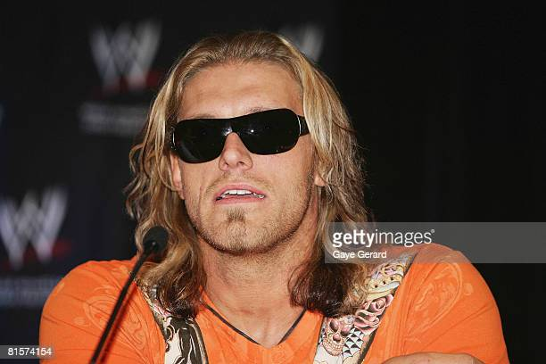 Wrestler Edge during the WWE Smackdown Photo Call at the Sheraton on the Park Hotel on June 15 2008 in Sydney Australia